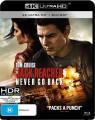 JACK REACHER - NEVER GO BACK (4K BLU RAY UHD)