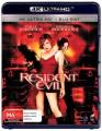 Resident Evil (4K UHD Blu Ray)