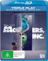 Monsters Inc 3D (Blu Ray)