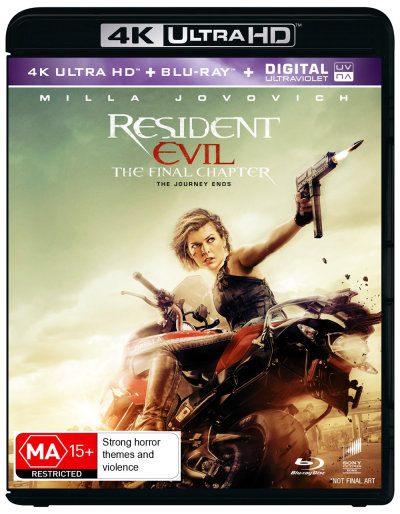 The Resident Evil: Final Chapter 4K UHD Blu Ray