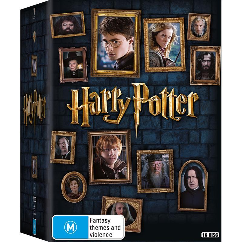 harry potter dvd box set dvdland. Black Bedroom Furniture Sets. Home Design Ideas