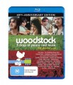WOODSTOCK - 3 DAYS OF PEACE AND MUSIC (BLU RAY)